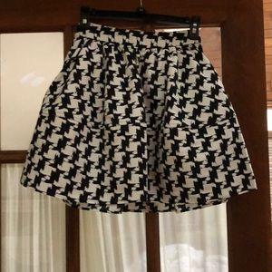 Houndstooth flares skirt